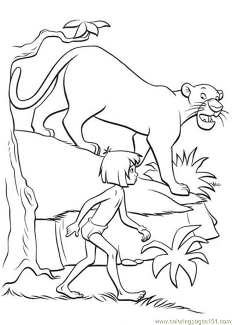 dibujos de el libro de la selva para colorear y pintar jungle scene coloring pages coloring home