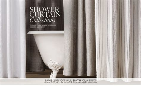 restoration hardware shower curtains shower curtains rh