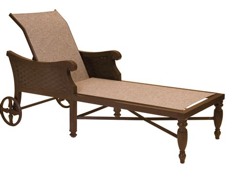 chaise lounge with wheels castelle jakarta sling cast aluminum adjustable chaise