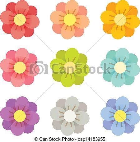 귀여운 꽃 cute flowers vector file eps10 csp14183955