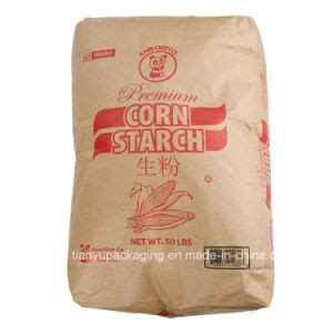 Starch Paper - china cornstarch potato starch kraft paper valve bag 25kg