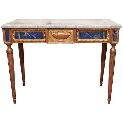 Italian Console Table Italian Louis Xvi Console Table With Lapis Lazuli Panels For Sale At 1stdibs