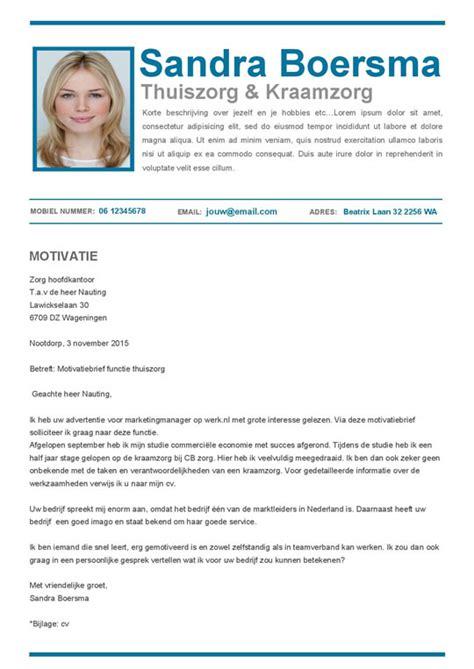 Professionele Cv Sjabloon Pro Cv In Blauw En Wit Voor Een Professionele Eerste Indruk