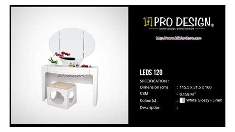 Meja Rias Pro Design leds 120 meja rias putih legia pro design