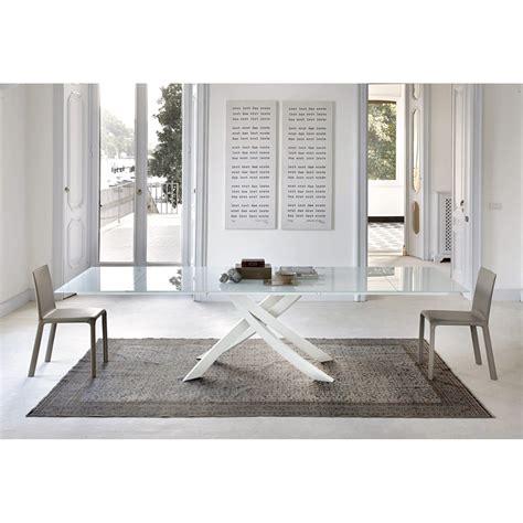 bontempi tavoli e sedie bontempi casa tavolo artistico fisso 200x106 cristallo