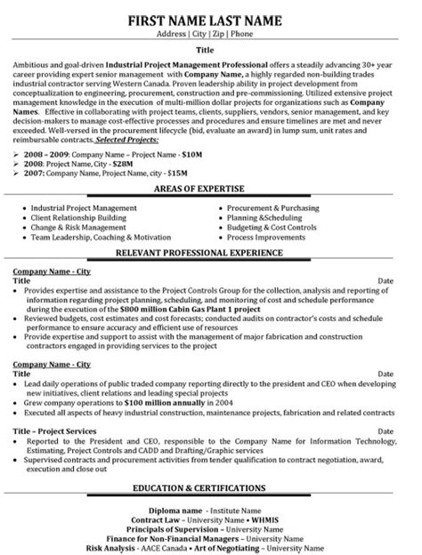project management resume exles top project manager resume templates sles