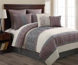 8 piece luxury comforter bedding set wind lilac ivory