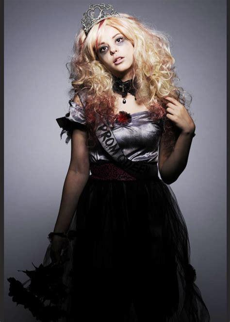 Teen Girls Dead Zombie Prom Queen Costume