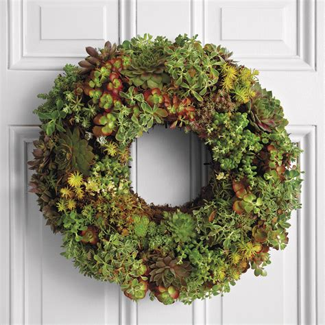 living succulent wreath the green head