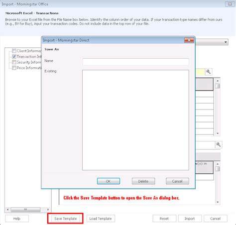 Create An Excel Template For The Excel Transactions Import 300 Import Templates Excel