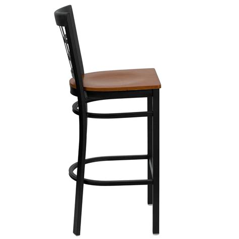 Metal Frame Bar Stools | window pane back metal frame bar stool fl6qr7winb