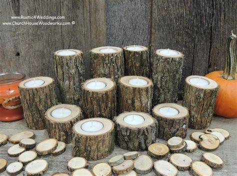 12 Rustic Candle Holders Tree Branch Candle Holders Rustic Wood Centerpiece