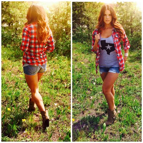 country style blogs outdoors flannel country fashion ankle booties