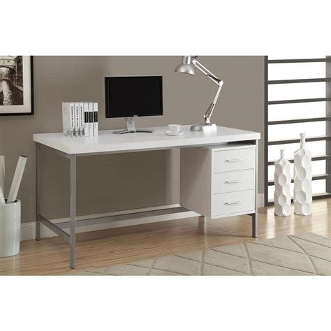 White Office Desks For Home Monarch Specialties White Desk I 7046 The Home Depot