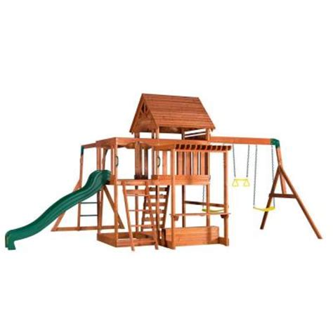 backyard discovery monticello cedar swing set backyard discovery monticello all cedar playset 35011com