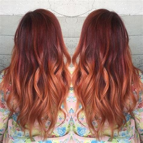 brunette and red hair pictures hombre 18 striking red ombre hair ideas balayage red hair and