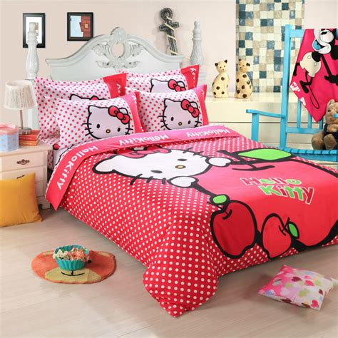 kids full size bedding cartoon duvet cover kids hello kitty bedding set twin full