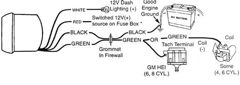 autometer tachometer wiring diagram 89 gmc 350 v8 2 wd automatic 1500 the tach is a auto 5 quot 10 000rpm it has 4