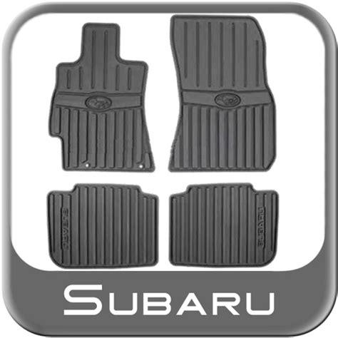 2010 2012 subaru legacy rubber floor mats all weather black