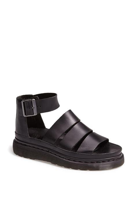 dr martens sandals dr martens clarissa leather sandal in black lyst