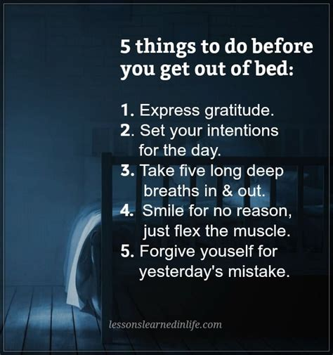 5 Things To Get You In The Mood by Lessons Learned In Life5 Things To Do Before You Get Out