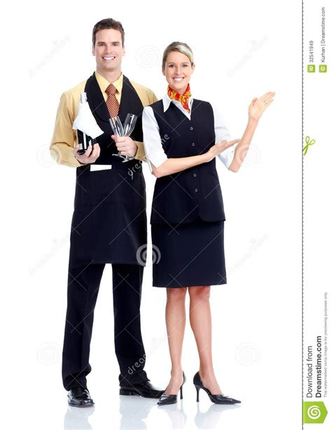 waiter and waitress royalty free stock images image 32541949