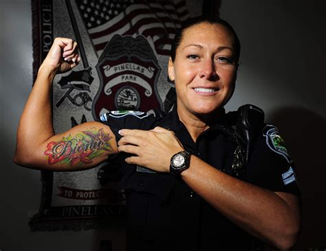 police wife tattoo cops and tats socially acceptable ink e roll call