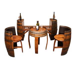 sonoma barrel table set wine barrel furniture