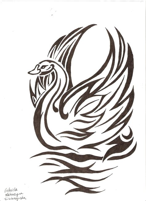 swan tribal by gabbiedob1997 on deviantart