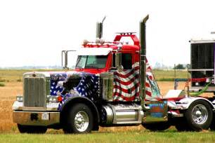 American 18 Wheeler Truck Free American Flag Paint I Saw This While Going The