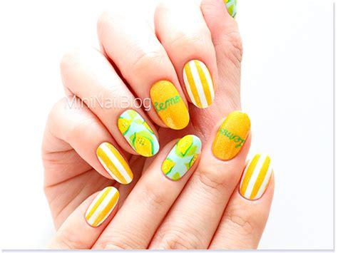 lemon nail art tutorial lemon nail art nailbees