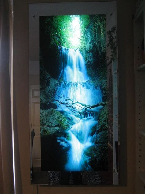 light up pictures moving waterfall picture in motion mirror framed water