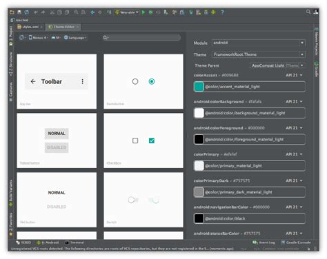 themes creator laptop android studio 1 4 preview 1 in canary channel android