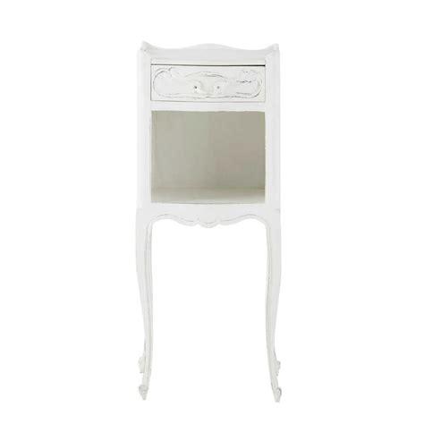 Agréable Table De Chevet Style Romantique #1: Table-de-chevet-avec-tiroir-en-manguier-blanche-l-30-cm-medicis-1000-2-28-138977_1.jpg
