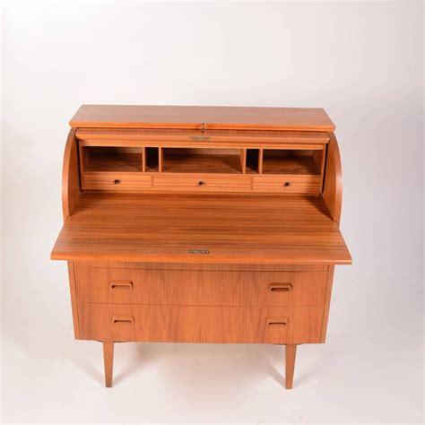 scandinavian teak roll top cylinder desk for sale at 1stdibs