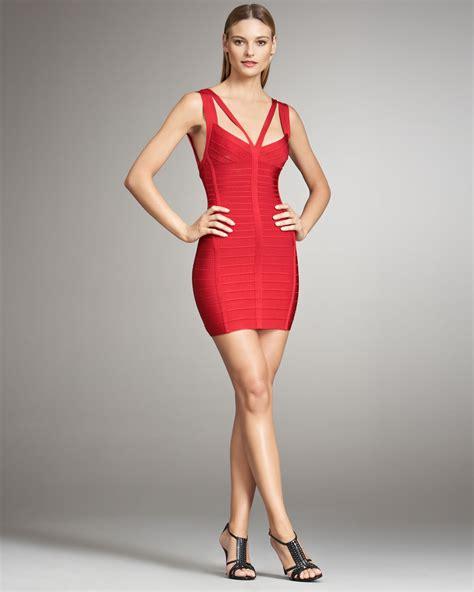 Herve Dress lyst herv 233 l 233 ger bandage dress in