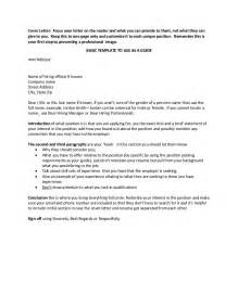 Basic Cover Letter Template by Application Letter Sle Cover Letter Template Basic