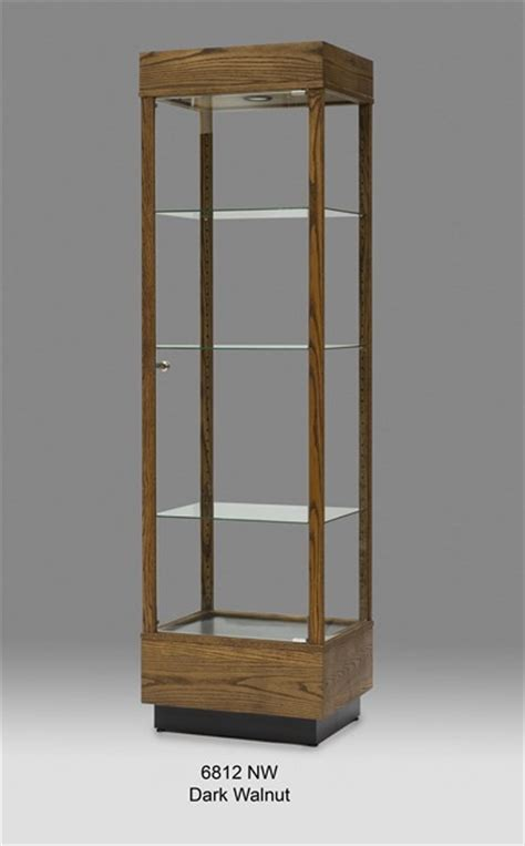 wood and glass cabinet wooden rectangular glass display cabinet tower