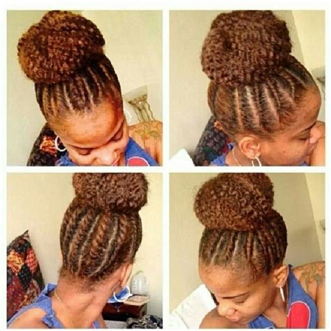 markey hair bun style love this flat twist high bun can t wait til my twa gets
