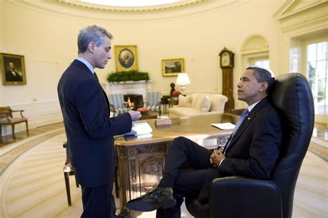 Obama White House by Rahm Emanuel In President Barack Obama S Day In The