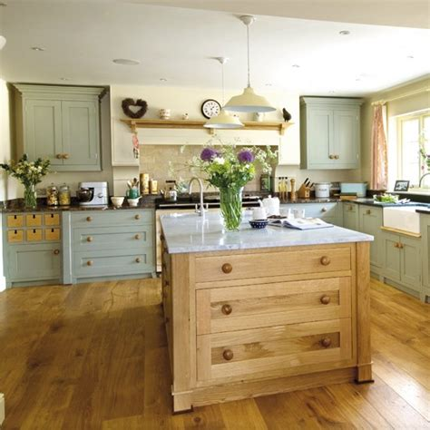 country kitchens with islands welcoming country kitchen housetohome co uk