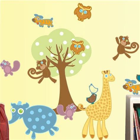 zoo animal wall stickers baby zoo animal wall decals to decorate your nursery room