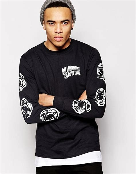 Tshirt Kaos Billionare Boys Club billionaire boys club billionaire boys club sleeve t shirt with helmet print
