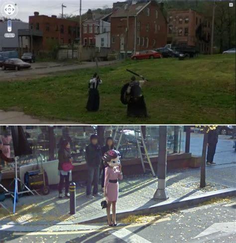 google maps   people    bizarre street view  ladbible