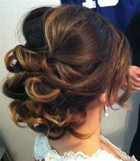 soft curls medium length 25 effortless updos for medium length hair hairstyle for