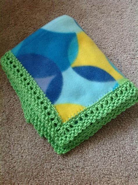 crochet fleece blanket pattern free pattern this unisex crochet edge can make any