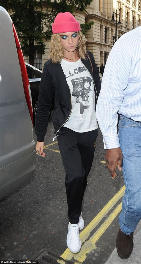 neck tattoo will ferrell cara delevingne with ll cool j t shirt in her home city of
