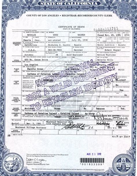 jonathan kaplan texas natalie wood s death certificate amended by coroner