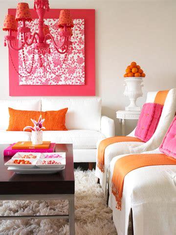 trendy color combo pink orange
