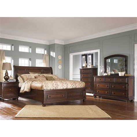 5 piece bedroom furniture sets porter 5 piece bedroom set b697 5pcset ashley furniture